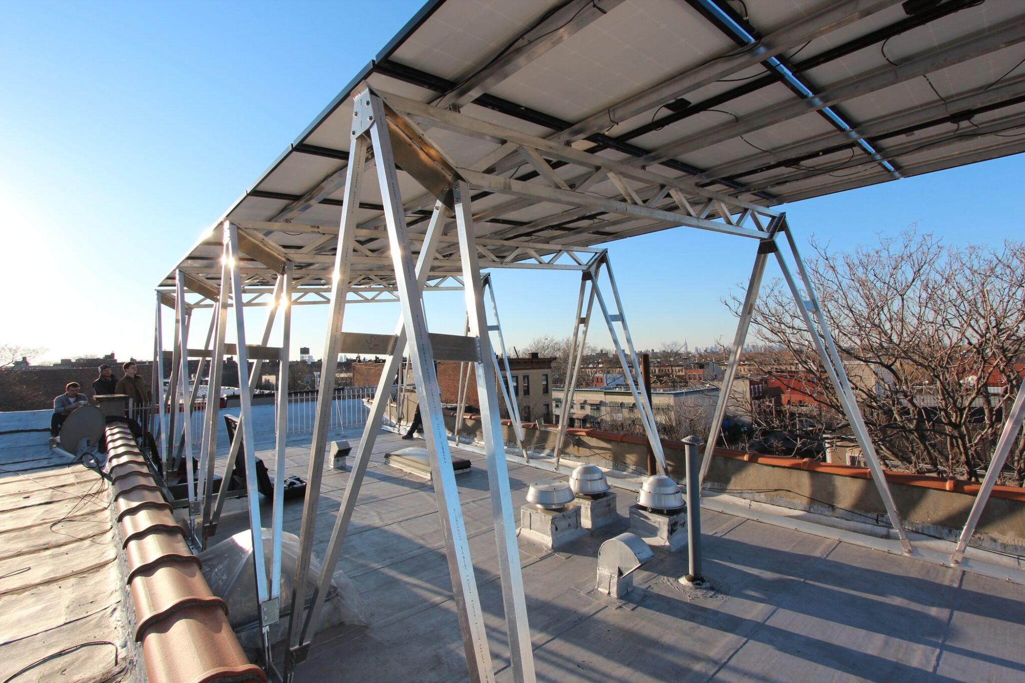 a solar canopy that aims to spread rooftop solar in urban areas