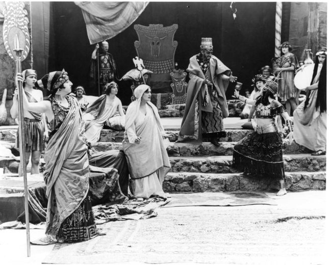 1922 Pilgrimage Play, Salome before Herod. (L.A. Public Library)