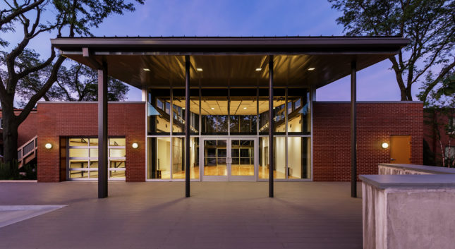 The transparent arts center has become a hub for community activity in Grand Crossing and surrounding neighborhoods. (Mark Ballogg/Courtesy Landon Bone Baker Architects)