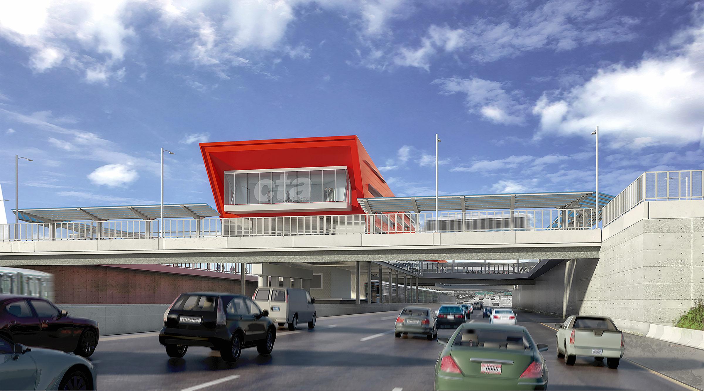 95th dan ryan red line l station renders released archpaper 95thdan ryan cta sciox Gallery