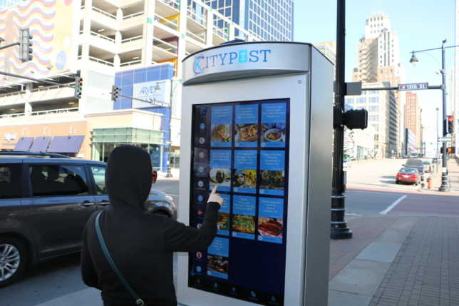 Smart City Media also designed the City Post kiosks now installed in Kansas City, Missouri. (Daniel Boothe via Flatland)