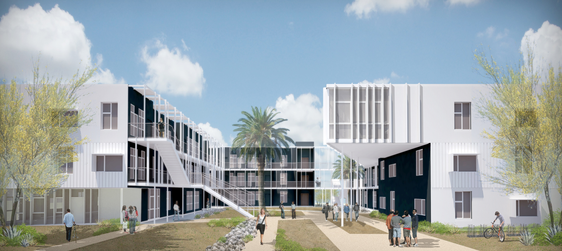 Merveilleux Projective Renderings For Lorcan Ou0027Herlihy Architectsu0027 San Joaquin Housing  Complex At University Of