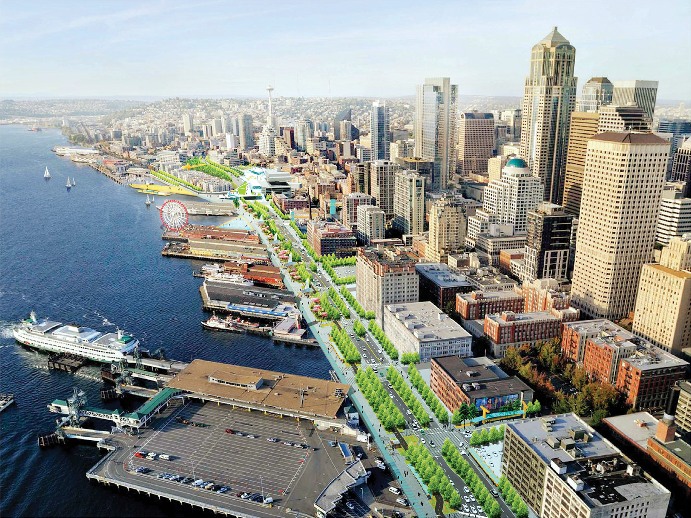 seattle waterfront transformation prepares to break ground this year. Black Bedroom Furniture Sets. Home Design Ideas