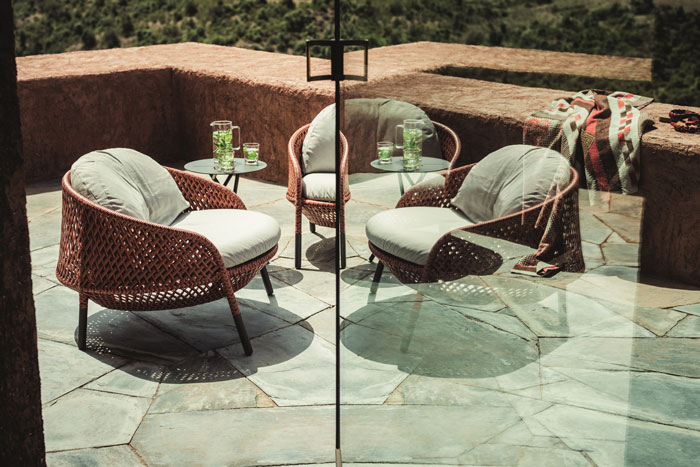 elegant outdoor furniture. courtesy dedon elegant outdoor furniture