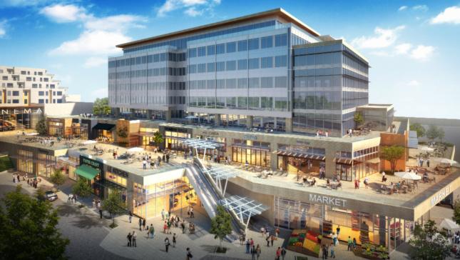 Proposed view of Kirkland Urban development. (Courtesy CollinsWoerman)