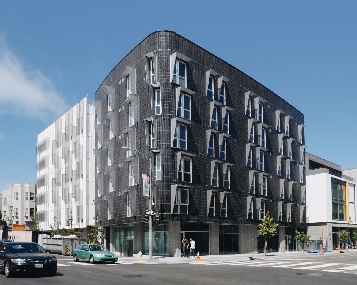 Black Glazed Tile Clads A Mega Bay In San Francisco S