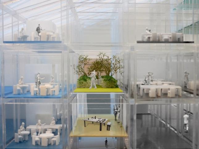 Royal College of Art Battersea South Campus model. (Courtesy Herzog & de Meuron)