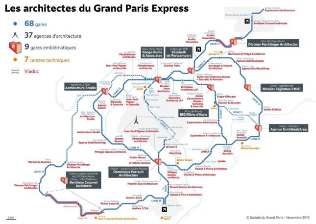 The planned subway network. (Courtesy Société du Grand Paris)