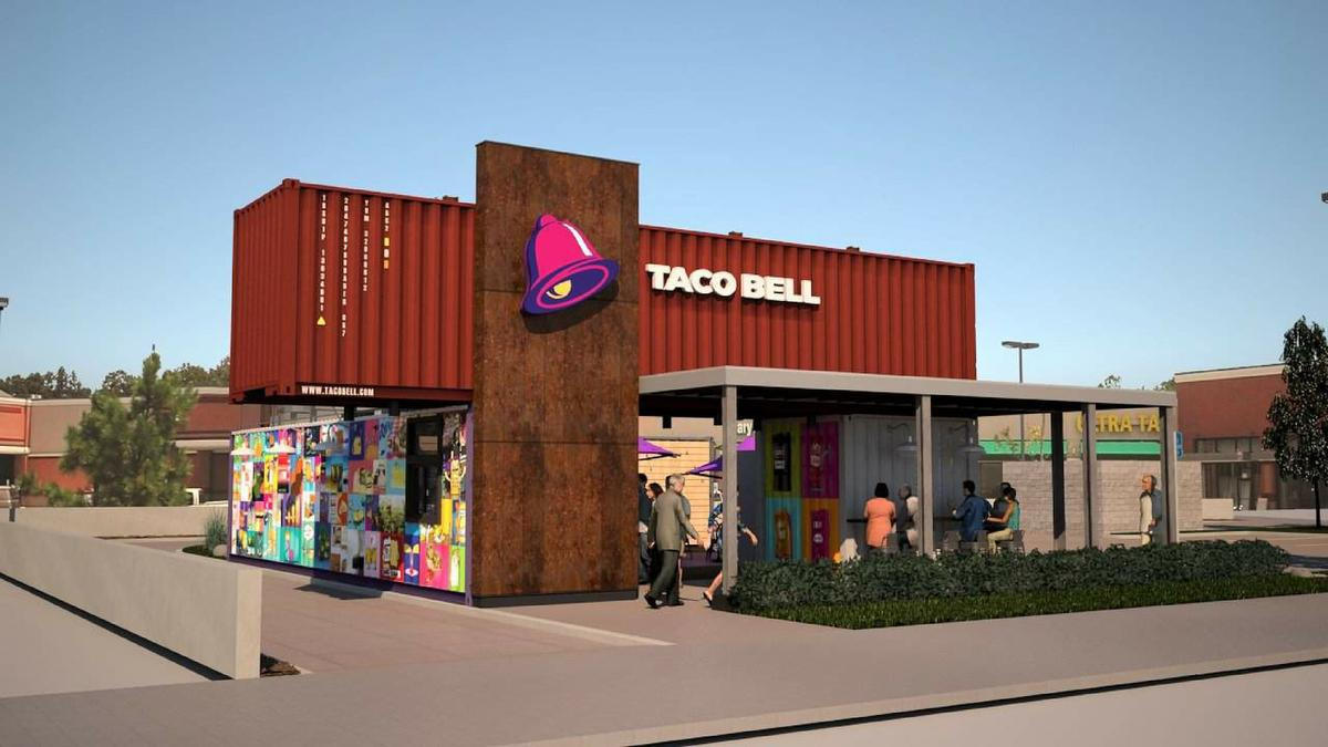 Taco Bell Shipping Container Restaurant Is Coming To