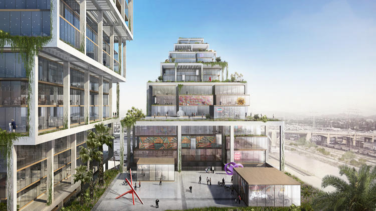 BIG has unveiled a 250-unit mixed-use complex for L.A.'s Arts