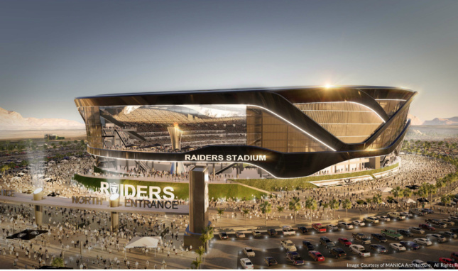 View of a proposed scheme for the potential Las Vegas Raiders stadium designed by Manica Architecture. (Courtesy Manica Architecture)