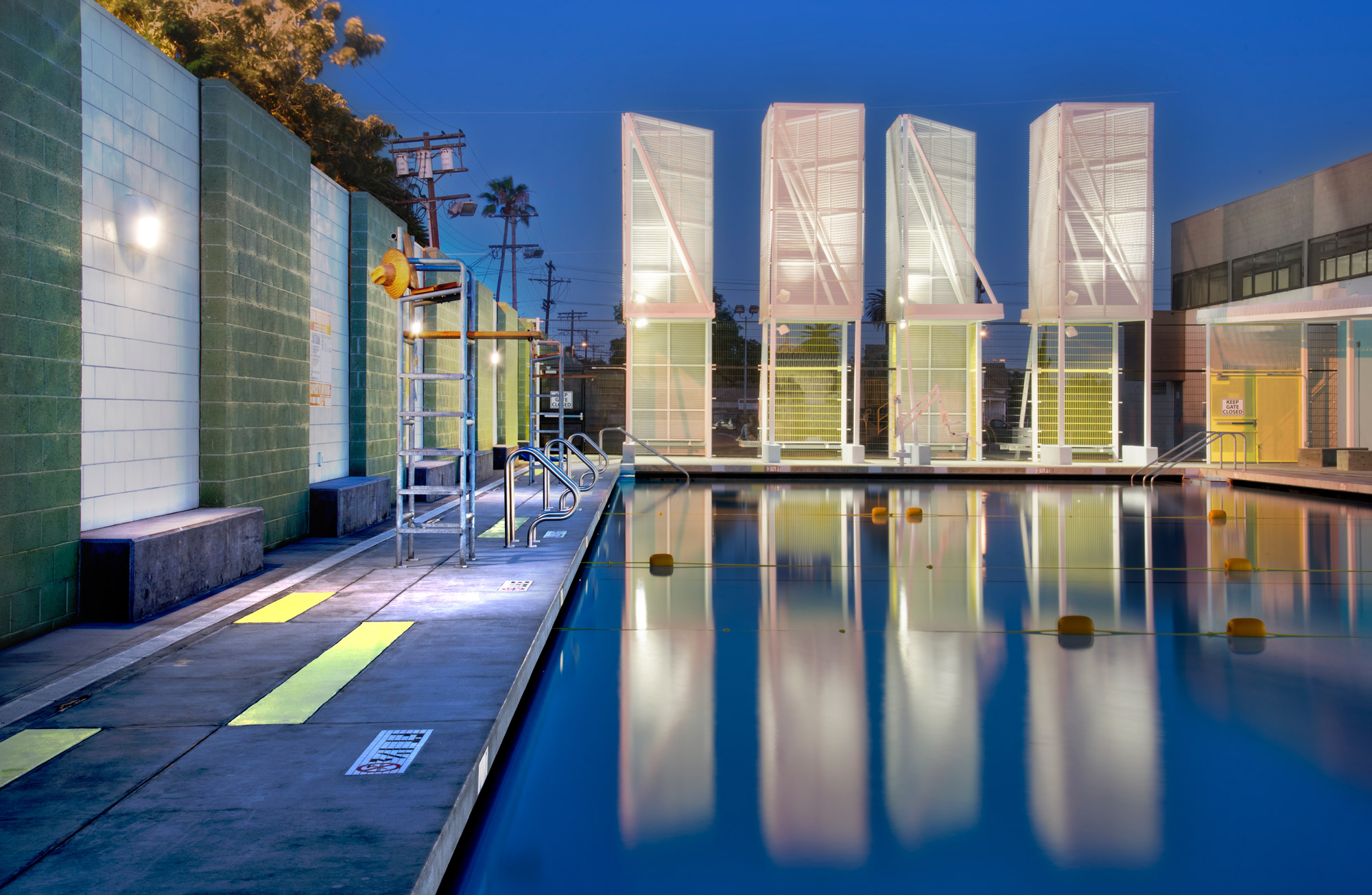 lehrer architects office design. Lehrer Architects Utilized A Group Of Light Towers To Mark The Pool\u0027s Presence In Community Office Design S