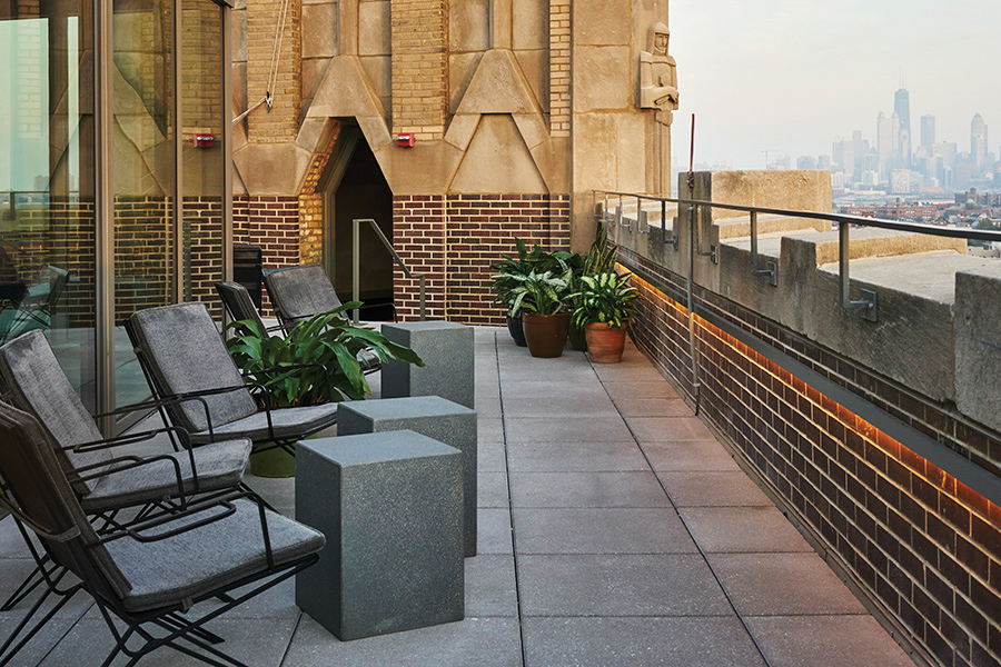 A newly remodeled 1920s building the robey hotel adds to for Robey hotel chicago