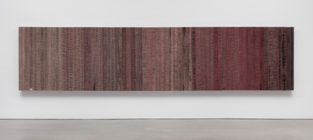 Theaster Gates's Dirty Red sculpture made of fire hoses. (Courtesy ©Theaster Gates / Courtesy Regen Projects)