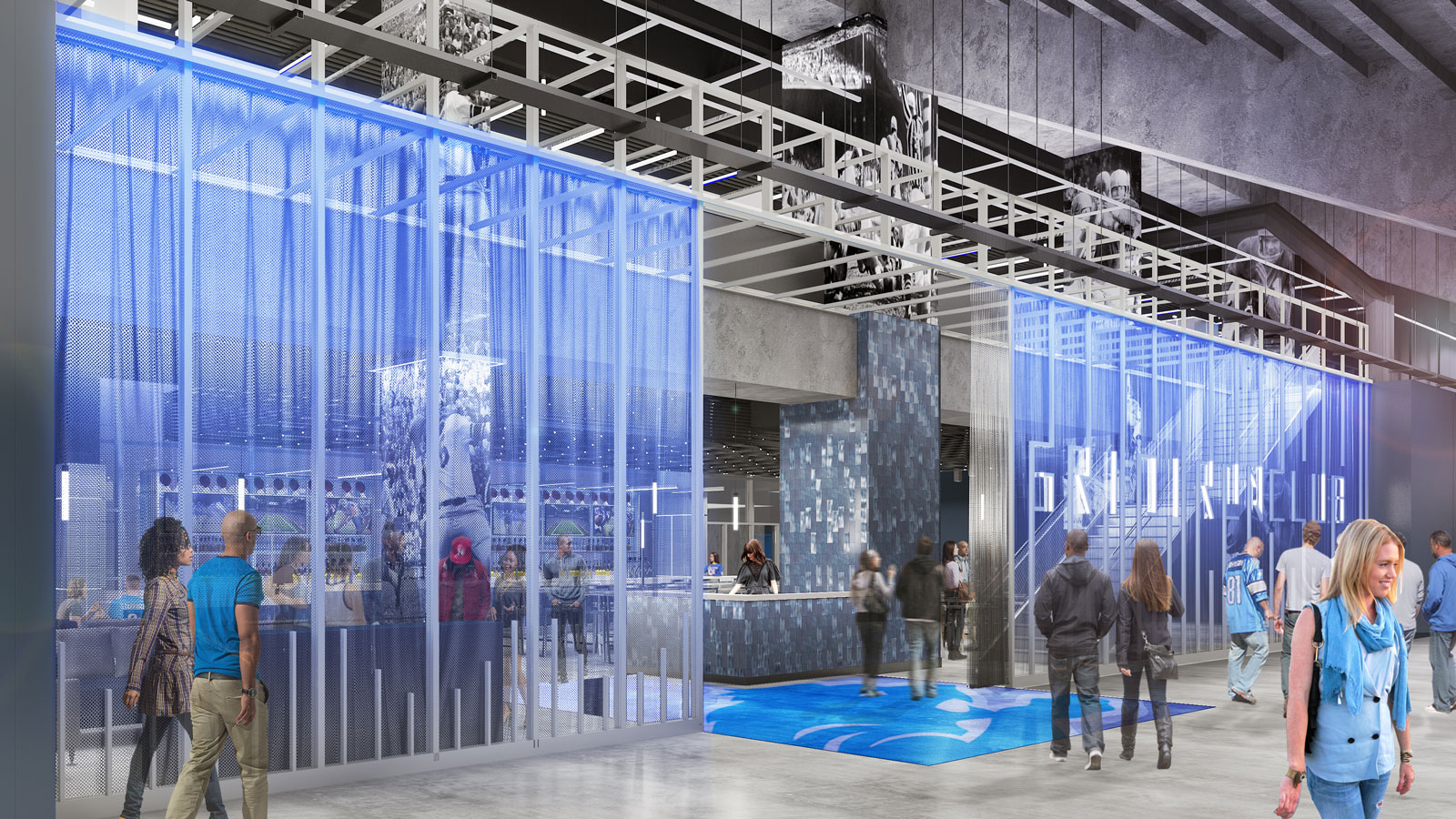 Detroit Lions Reveal 44 Million Ford Field Interiors