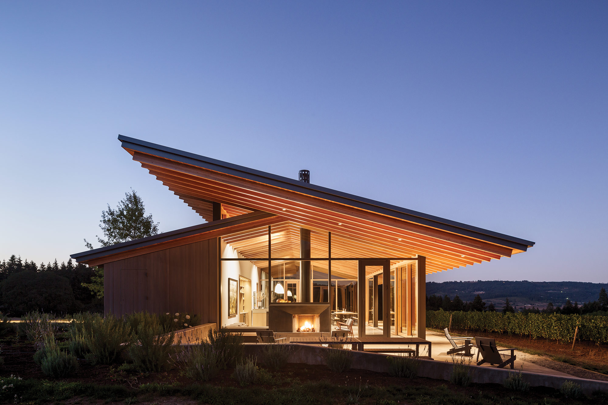 lever architecture is bringing mass timber construction into the l angolo estate a winery tasting room in newberg oregon courtesy
