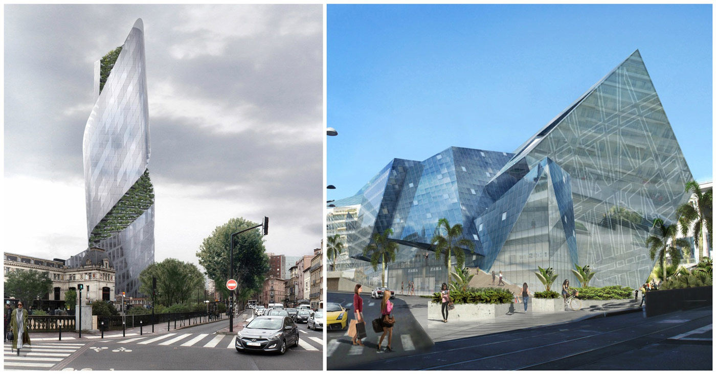 Studio libeskind wins competitions for two new projects in for Architecture toulouse