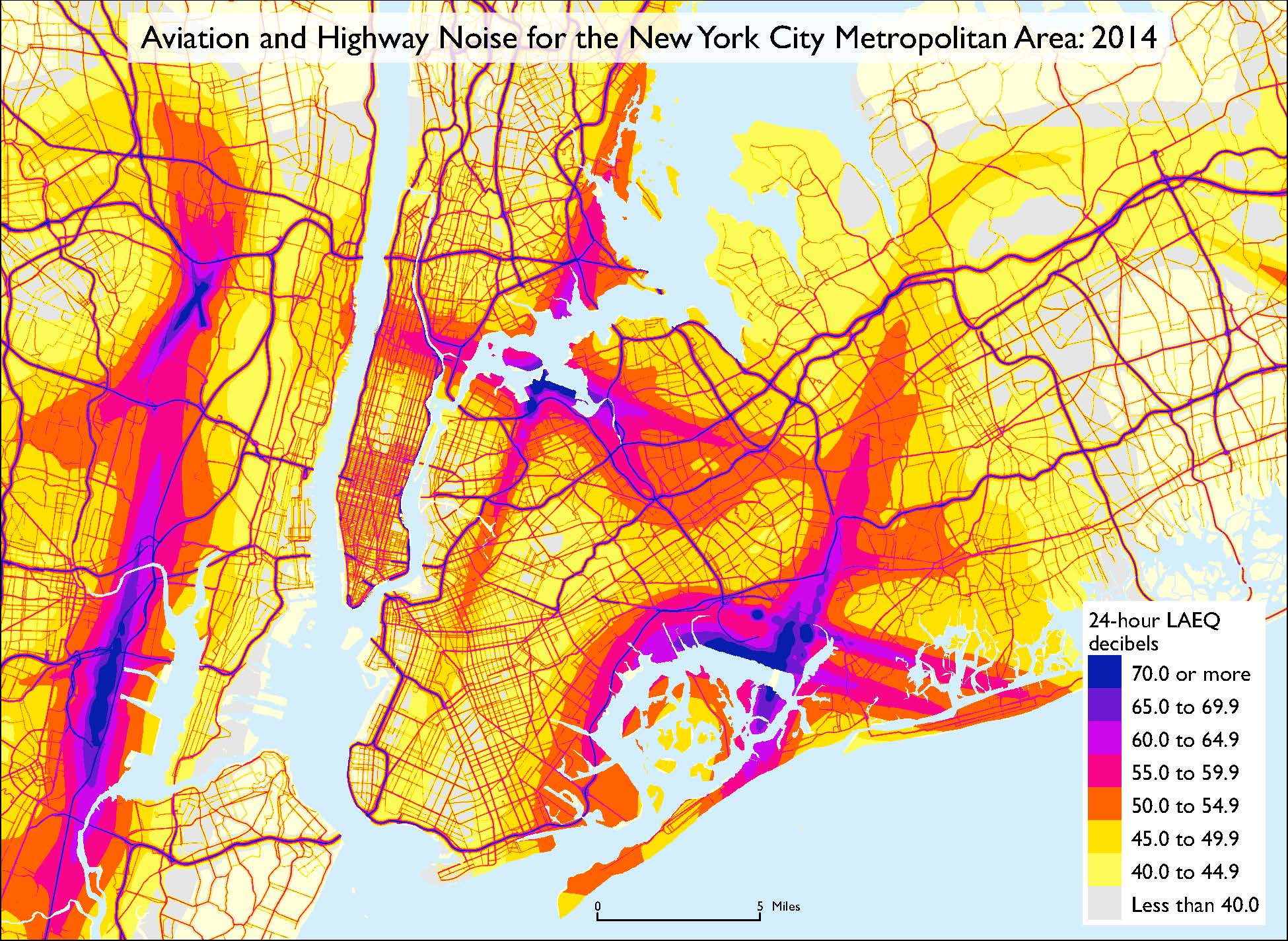 Dot Releases First Ever Noise Map Of The United States Seen Here Nyc