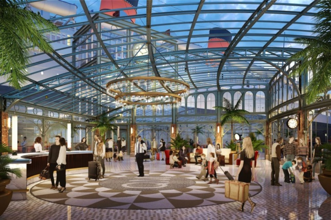 View of new entry area for Queen Mary. (Courtesy Gensler)