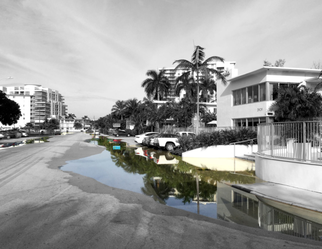 ing tide events often cause flooding in areas where there was not significant flooding in the past. It is unclear what will happen if these sea-level rise–related events keep happening with increasing intensity and frequency. (Courtesy City of Fort Lauderdale + Florida Atlantic University School of Architecture)