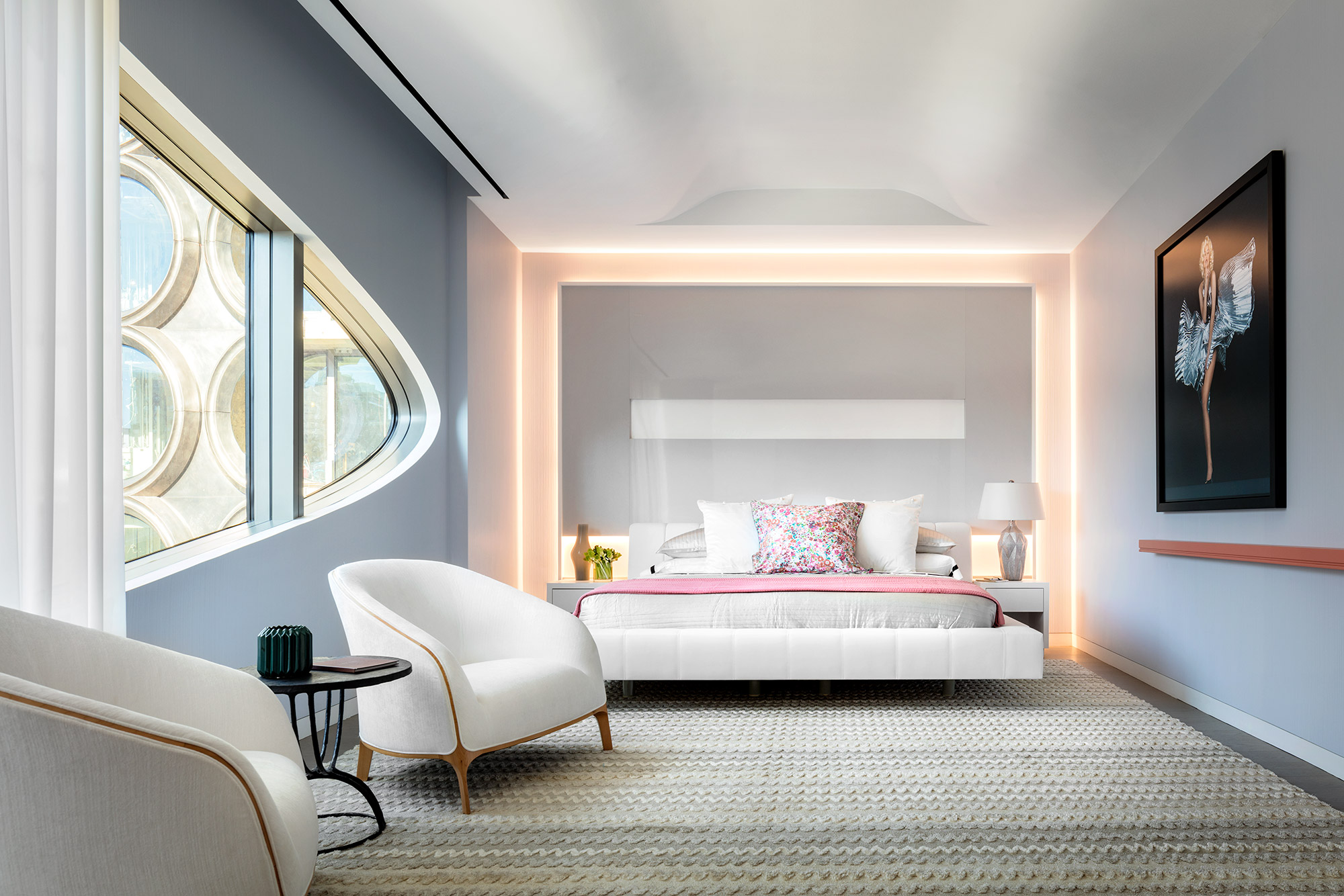 Revealed two interiors of zaha hadid 39 s 520 west 28th for Interior design zaha hadid