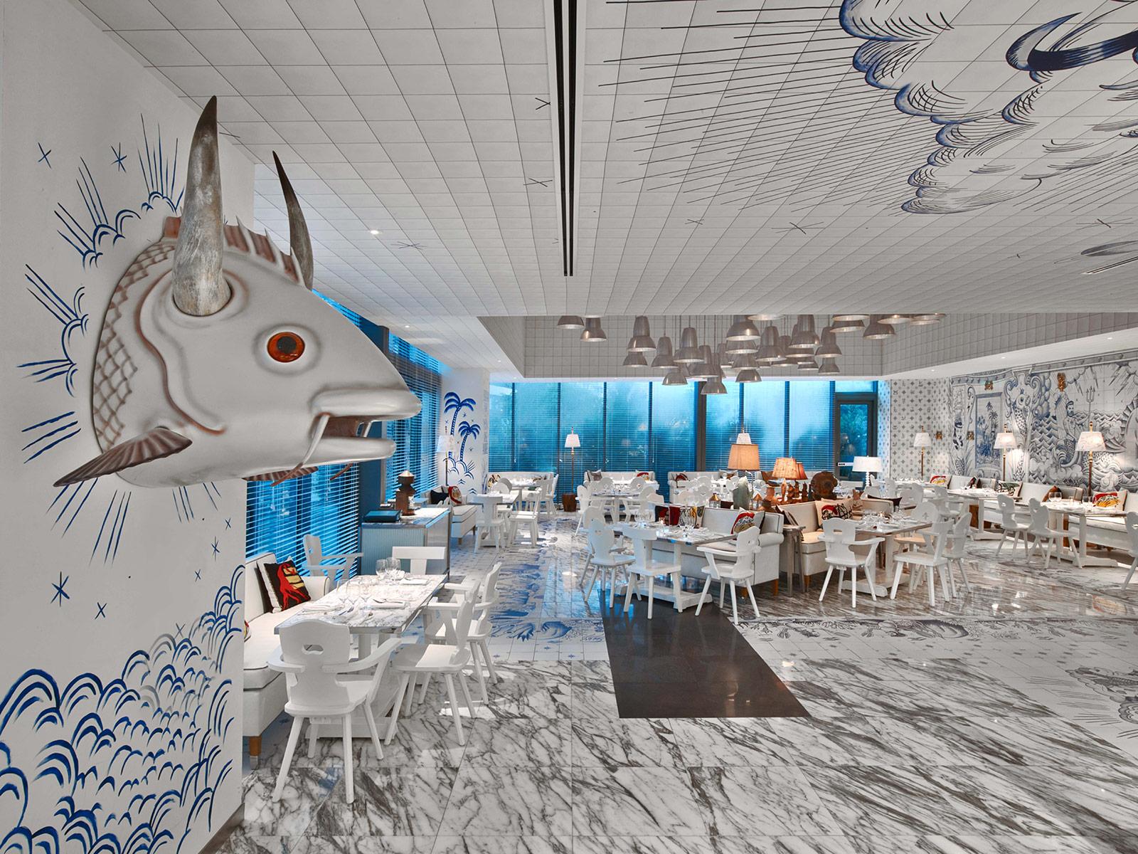 Phillipe starck designs surreal nautical interior for