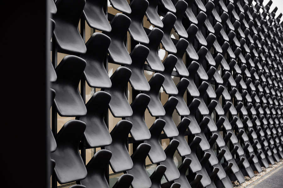 Over 900 Chairs Adorn The Facade Of This Furniture Gallery   Archpaper.com
