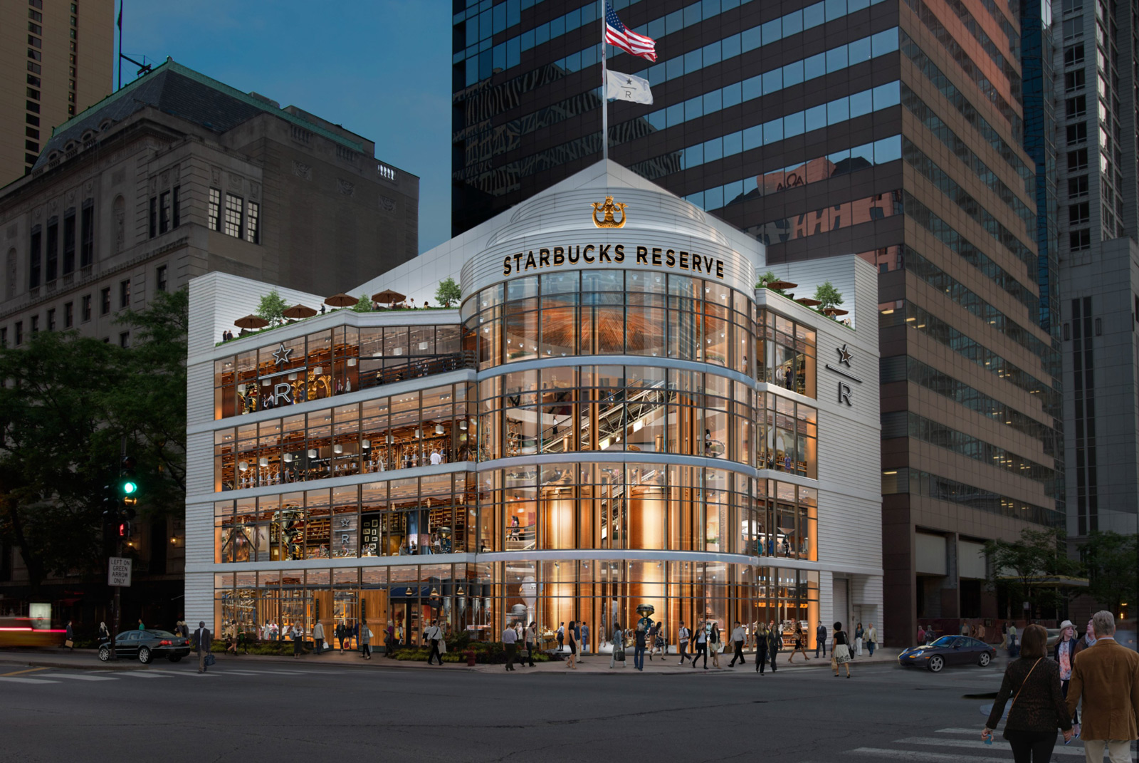 worlds largest starbucks to open in downtown chicago courtesy starbucks