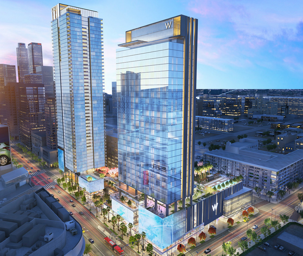 Property Development Centers : Los angeles approves massive two tower luxury development