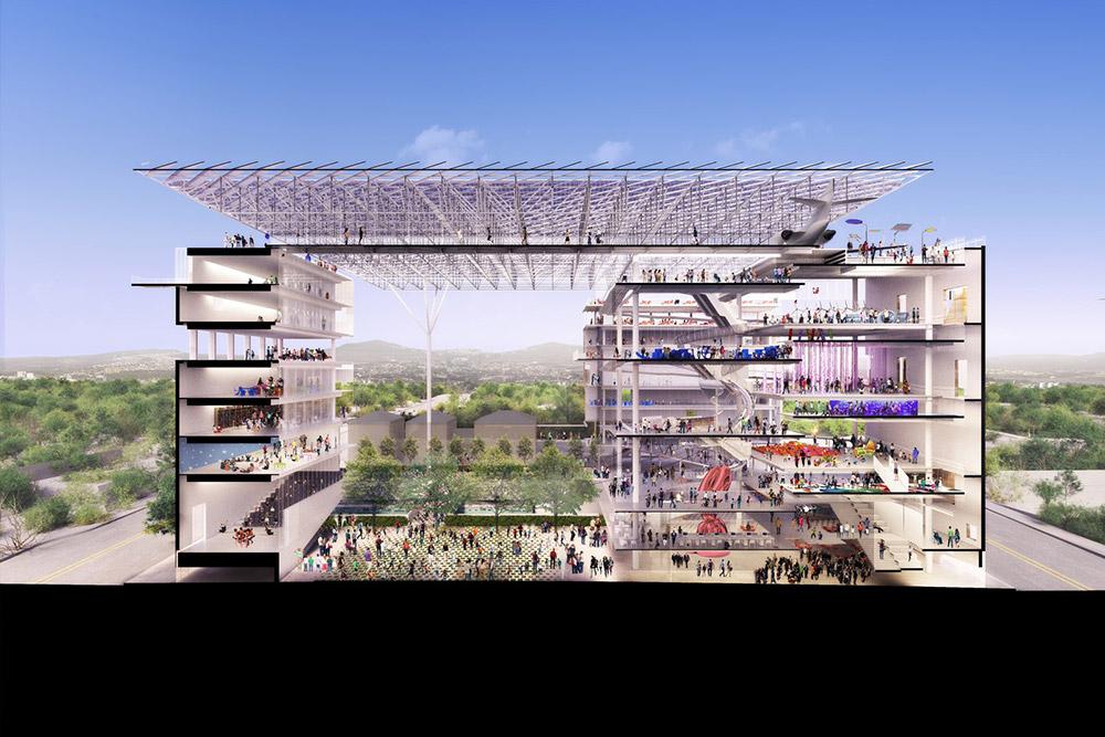 TEN Arquitectos EPC Museum Perspective Section WEB