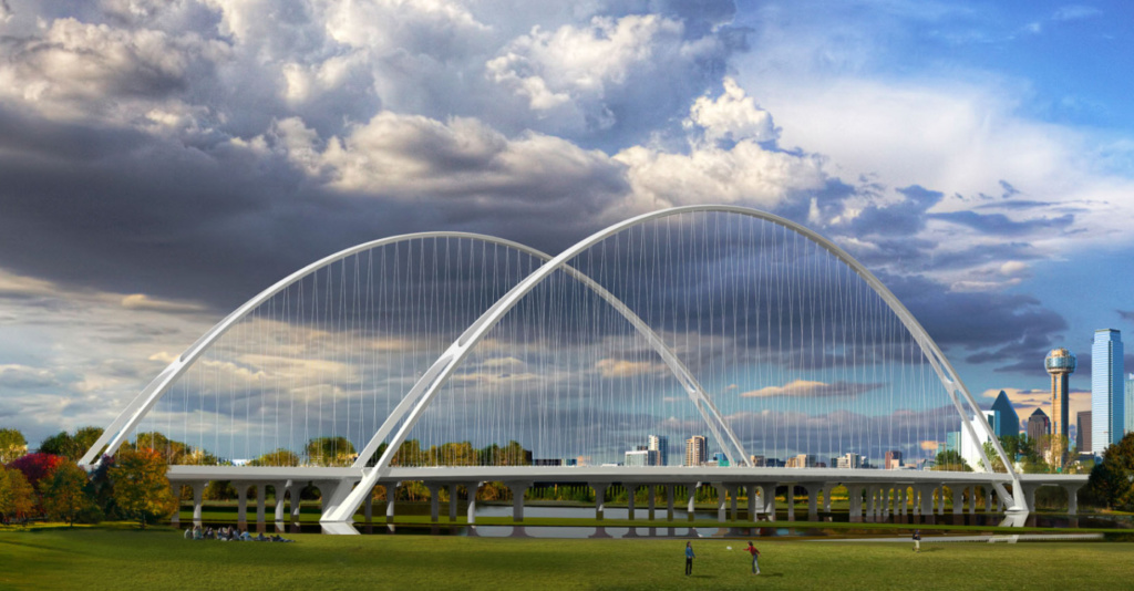 Santiago Calatrava's second Dallas bridge is cracking in the wind. Rendering of the bridge. (Courtesy Santiago Calatrava)