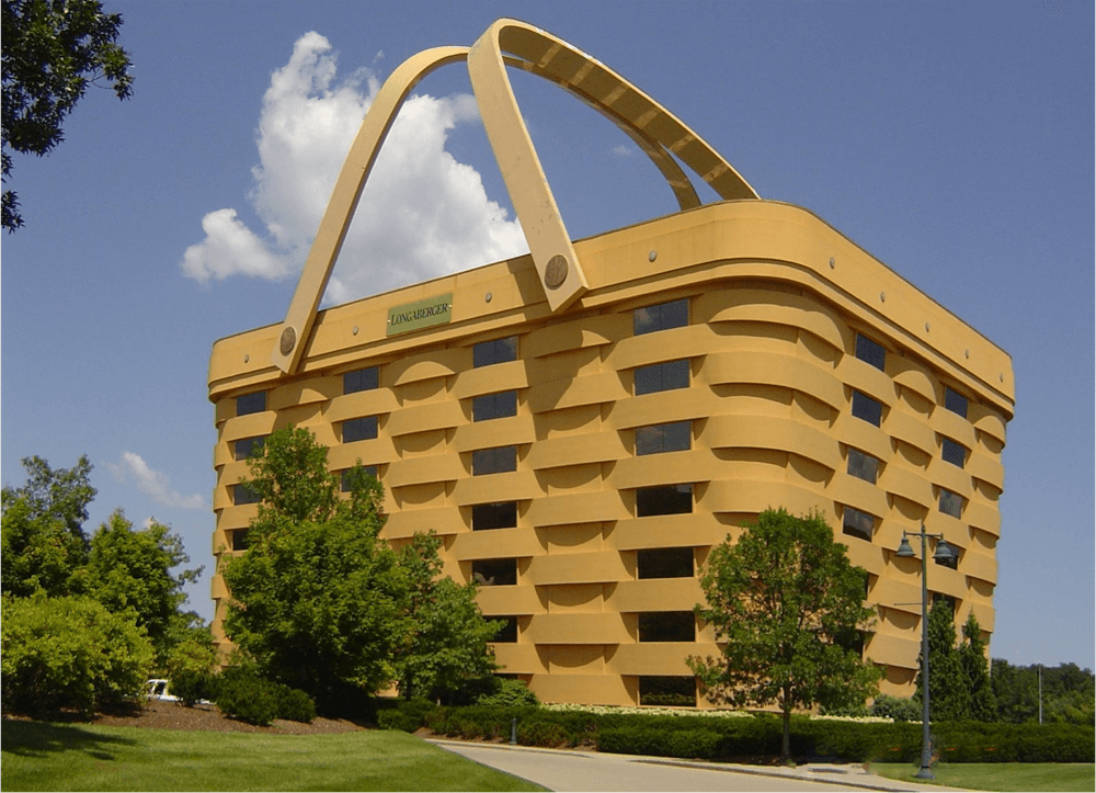 The former headquarters of the Longaberger Co. in Newark (Courtesy Newark  Development Partners)