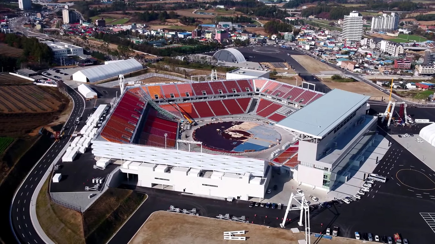 South Korea S Disposable Olympic Stadium Has No Roof Or