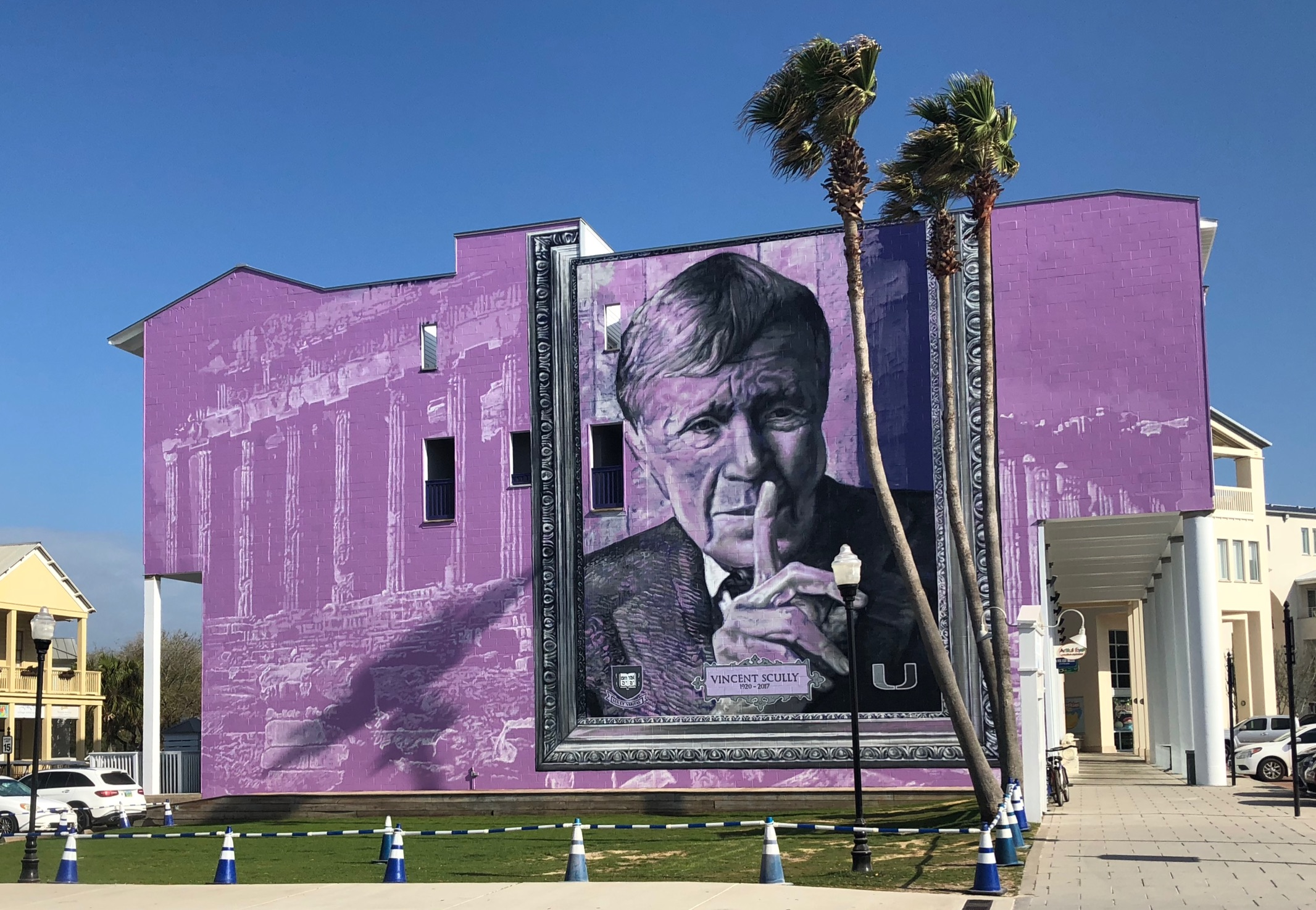 new mural honors the late vincent scully in seaside