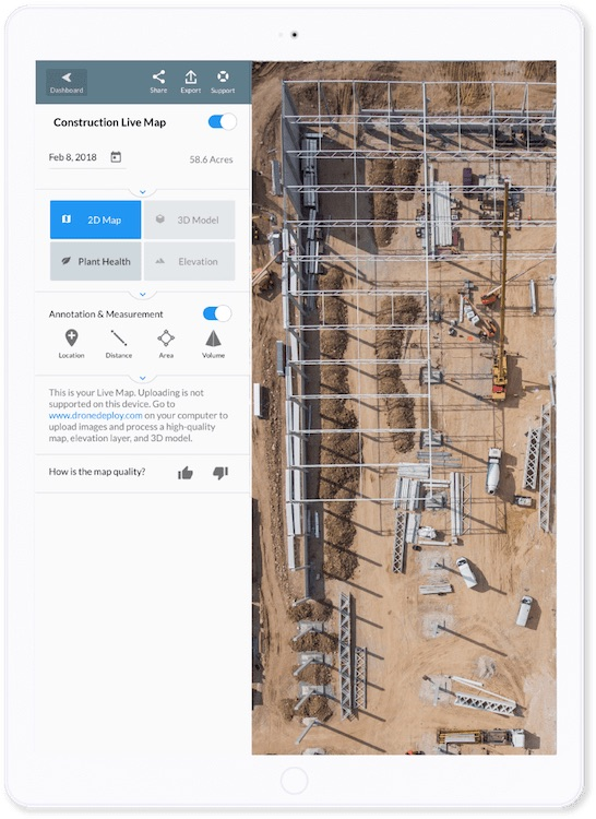 DroneDeploy Live Map (Courtesy DroneDeploy)