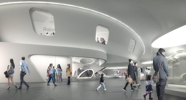 Rendering of the Robot Science Museum's interior