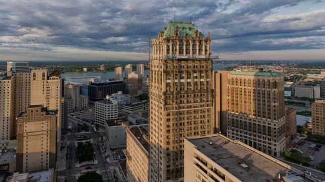 A tower in Detroit, part of Detroit Design 139
