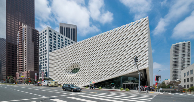 los angeles museum covered in sloped panels