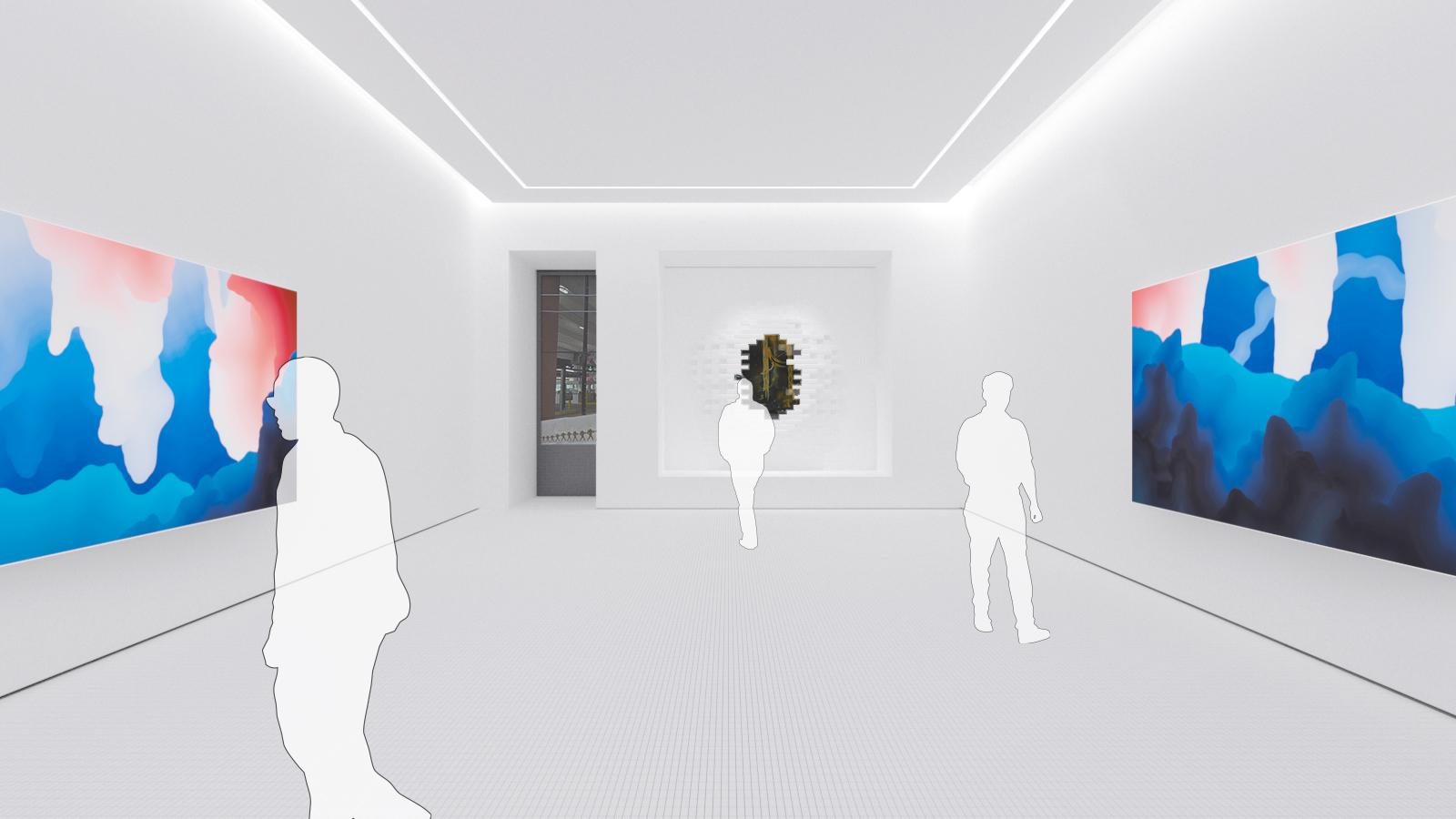 Illustration of an art gallery